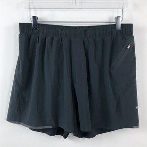 "Lululemon XL Black Surge 5"" Running Shorts Men's E"